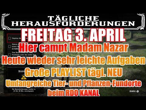 Freitag 3. April Täglichen Herausforderung Dailys Nazar Red Dead Redemption 2 Online