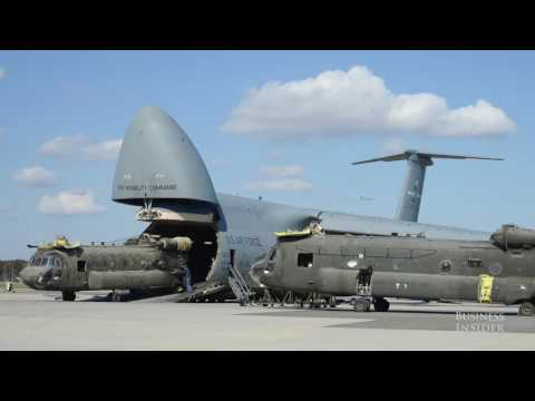 This Air Force plane is so enormous it can transport a submarine