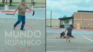 Hombre de la tercera edad armado con machete se enfrentó a dos jóvenes