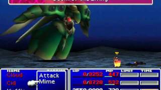Final Fantasy VII - Yuffie beats Emerald in 2:50  (no level 99, no max stats)
