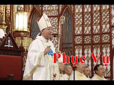 """Đức TGM Giuse Vũ Văn Thiên giảng lễ truyền chức Phó Tế 21/5/2019: """"Phục Vụ"""""""