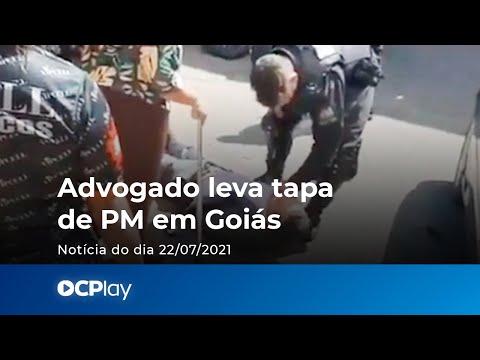 Advogado leva tapa de PM em Goiás