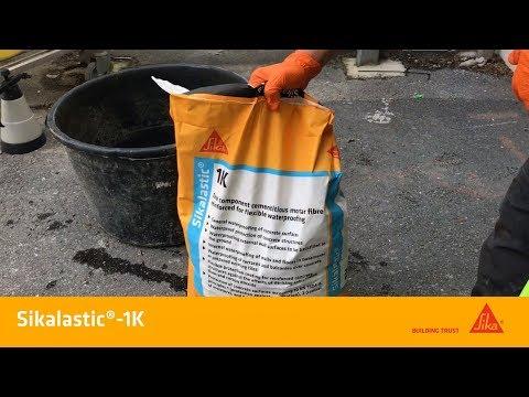 Sikalastic®-1K. Vattentätande, fiberförstärkt cementbruk.