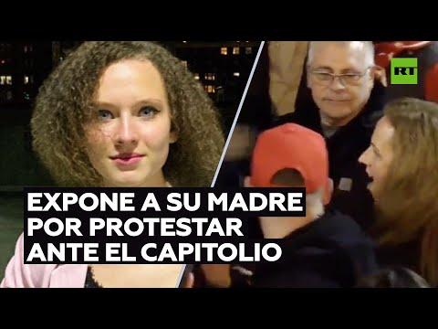 Identifica a su madre en redes por protestar ante el Capitolio y ahora busca dinero