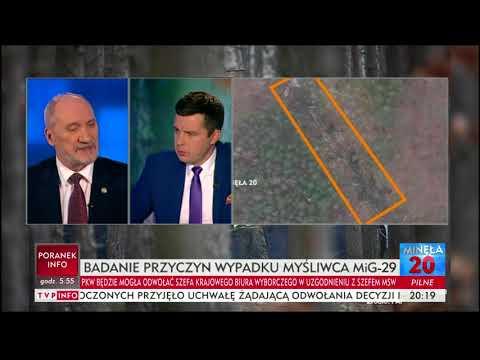 """""""Minęła 20"""" - minister Macierewicz o wypadku MiG-a: Porównania z katastrofą smoleńską"""