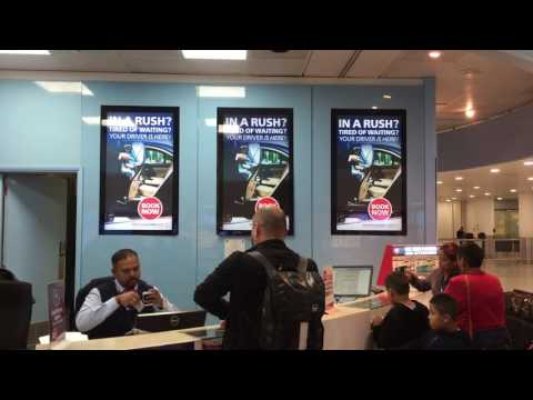 Digital Signage - Synchronised Screens -  Heathrow Airport