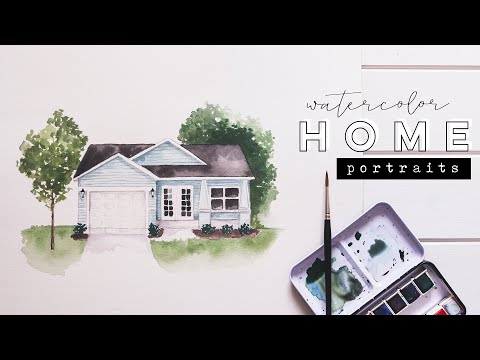 Watercolor Home Portraits   Illustrating + Painting Houses