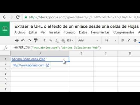 Extraer la URL o el texto de un enlace desde una celda de Hojas de Cálculo de Google