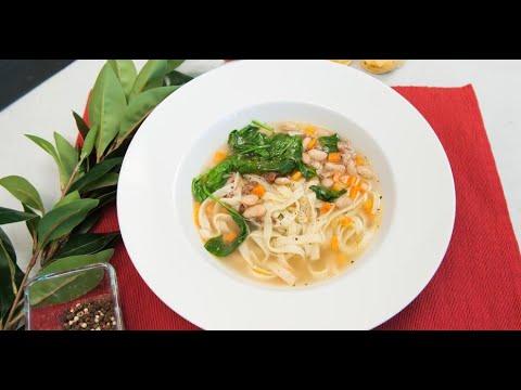 Суп с белой фасолью, пастой и шпинатом | Ужин? Не проблема!