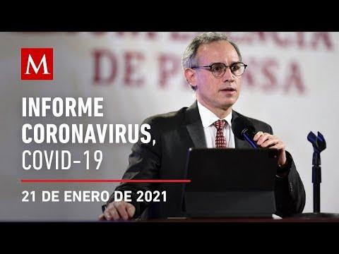 Informe diario por coronavirus en México, 21 de enero de 2021