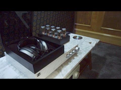 Sennheiser demo HE 1 headphones at Bristol Show 2017