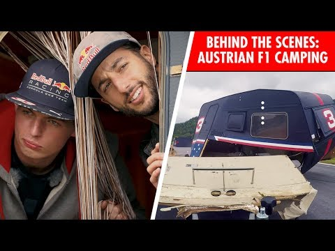 Camping with an F1 Twist! Go behind the scenes with Daniel Ricciardo and Max Verstappen