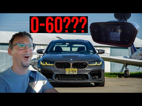 What is the 0-60 mph in the BMW M5 CS?