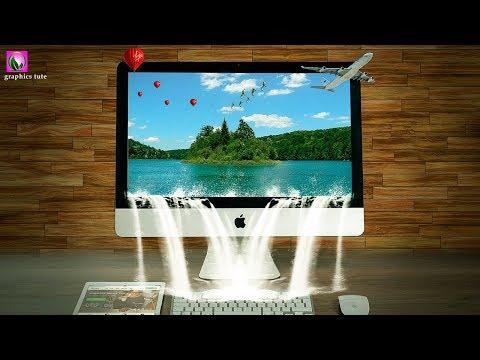 3D Waterfall On Desktop (3D Pop Out Effect) - Photo Manipulation Tutorial - 3D Photo Effect