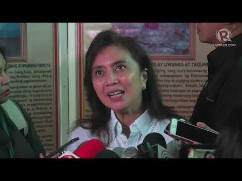 Be 'concerned' over moves to muzzle 'watchdog' press – Robredo