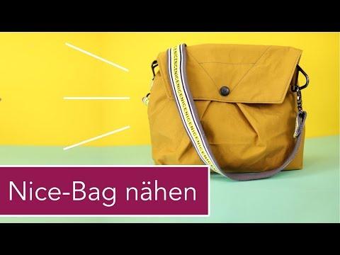 Nice Bag Handtasche aus Oilskin nähen mit kostenlosem Schnittmuster