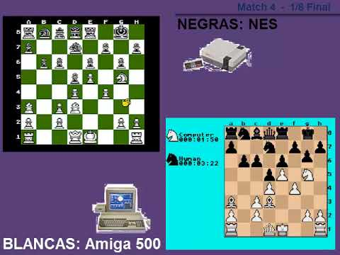 AJEDREZ - | Amiga 500 vs NES | - 1/8 Final. Match 4