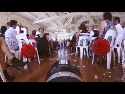 GoPro Mounted On Wedding Photographer's DSLR