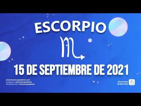 Horoscopo De Hoy Escorpio - 15 de Septiembre de 2021
