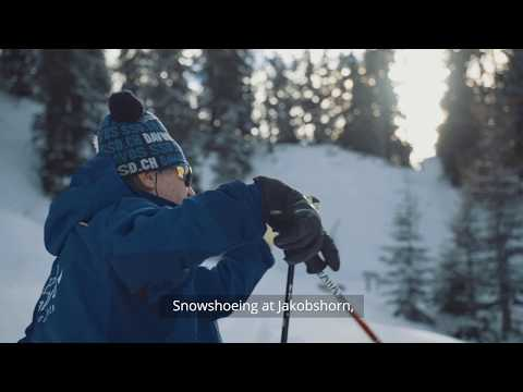This is #MyDavos: Snowshoeing