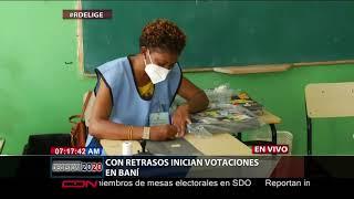 Con retraso inician votaciones en Baní, provincia Peravia