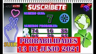 Probabilidades Para Hoy 13 de Junio 2021
