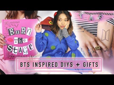 4 BTS INSPIRED DIYs and GIFTS! Tattoos, Burn Book, Jewelry | 방탄소년단 | Nava Rose