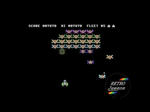 Galaxions para Commodore 64 - Review de RETROJuegos de Fabio Didone