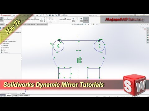Solidworks Dynamic Mirror Basic Tutorial For Beginner