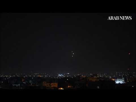 Israeli defenses intercept rocket launched from Gaza.