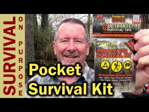 Pocket 45 Personal Survival Kit From Tiny Survival