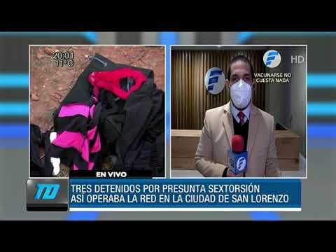 """Desbaratan red que se dedicaba a la """"sextorsión"""" en San Lorenzo"""
