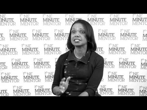 Hearst One Minute Mentor: Condoleezza Rice on Success