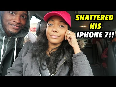 SHATTERED HIS IPHONE 7!!