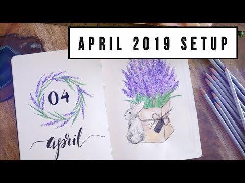 CREATIVE JOURNALING - APRIL 2019 JOURNAL SET-UP | ANN LE