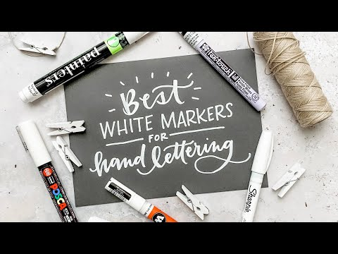 Best White Markers for Hand Lettering