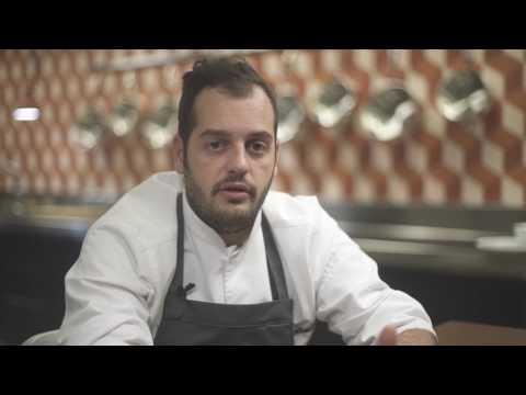 Crema di fagioli Lamon, fasolari, radicchio all'aceto e lardo - Chef Andrea Valentinetti