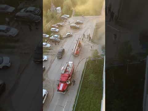 Возгорание квартиры в жилом доме Усинска