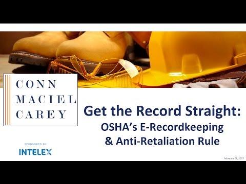 Get the Record Straight OSHA - Eric J Conn and Lindsay DiSalivo