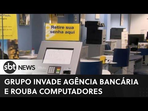 Grupo invade agência de banco e rouba computadores | SBT News