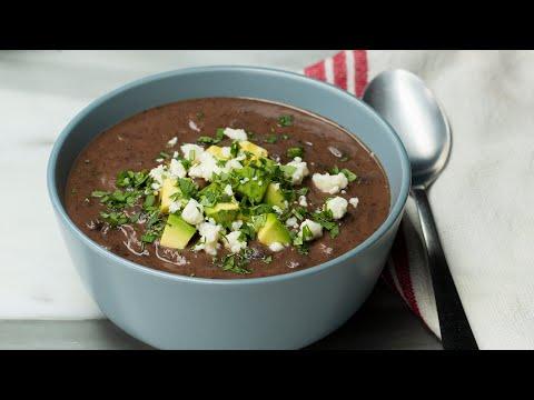 Healthy & Hearty Black Bean Soup ?Tasty