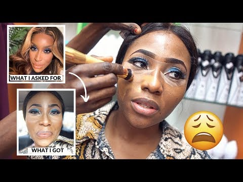 I WENT TO A NIGERIAN MARKET TO DO MY MAKEUP | DIMMA UMEH