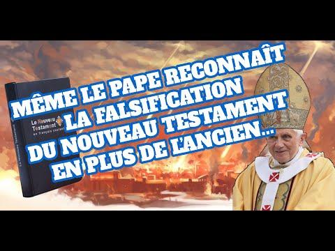 MÊME LE PAPE RECONNAÎT LA FALSIFICATION DU NOUVEAU TESTAMENT -Bible-...