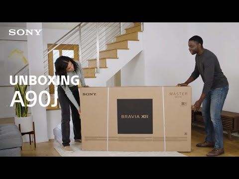 Unboxing: Sony BRAVIA® XR MASTER Series A90J TV
