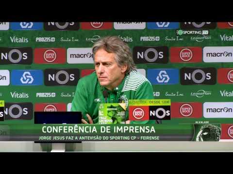 Conferência de Imprensa Jorge Jesus - Sporting CP X Feirense - 07 de Janeiro de 2017