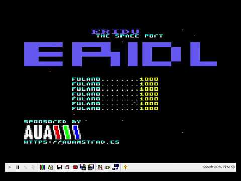 "Preview del nuevo juego de 8BP para amstrad ""ERIDU: the space port"""