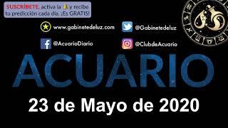 Horóscopo Diario - Acuario - 23 de Mayo de 2020