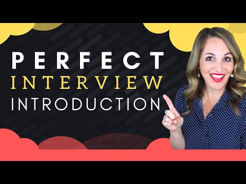 How To Introduce Yourself In A Job Interview - BEST Sample Answer photo