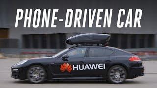 Riding in Huawei's phone-driven car