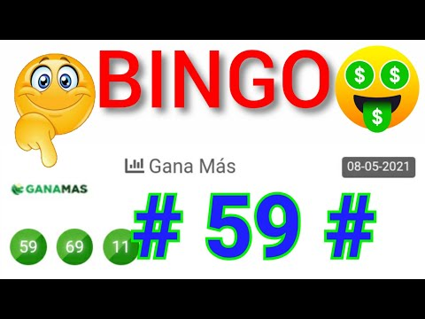 BINGO HOY....!! (( 59 )) SORTEOS loteria GANA MÁS HOY / NÚMEROS GANADORES de HOY/ PREMIOS REVELADOS